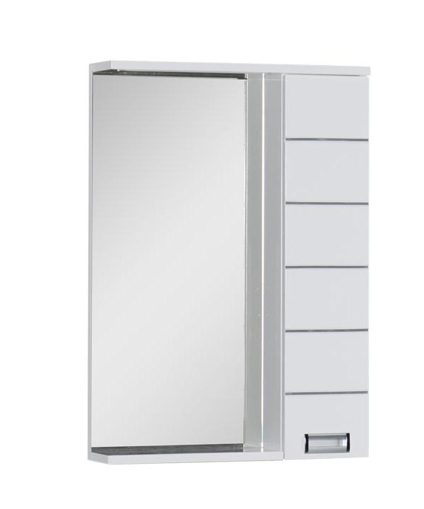 Купить Зеркальный шкаф Aquanet Доминика 60 LED белый 00171918, Россия