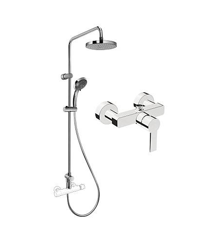 Купить Душевая колонна со смесителем для верхнего и ручного душа Vitra System Rain A49234EXP, Турция