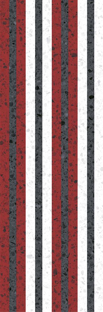 Купить Керамическая плитка Molle red Декор 02 30х90, Gracia Ceramica, Россия