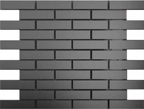 Купить Мозаика зеркальная Графит матовый Гм8025 ДСТ 80 х 25/300 x 300 мм (10шт) - 0, 9, Россия