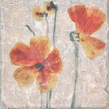 Керамогранит Serenissima Marble Style Inserto Style S/3 (Два Цветка) декор 10х10, Италия  - Купить