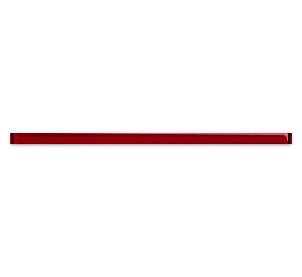 Купить Керамическая плитка Mei Universal Glass Спецэлемент стеклянный красный 3x75 (UG1U411), Россия