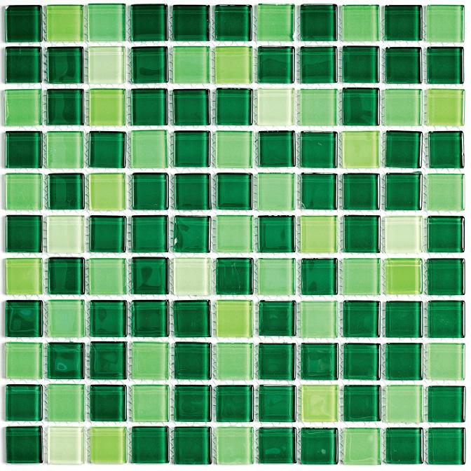 Купить Мозаика Jump Green №1 (Dark) (4x25x25) Растяжки 30x30, China Mosaic, Китай