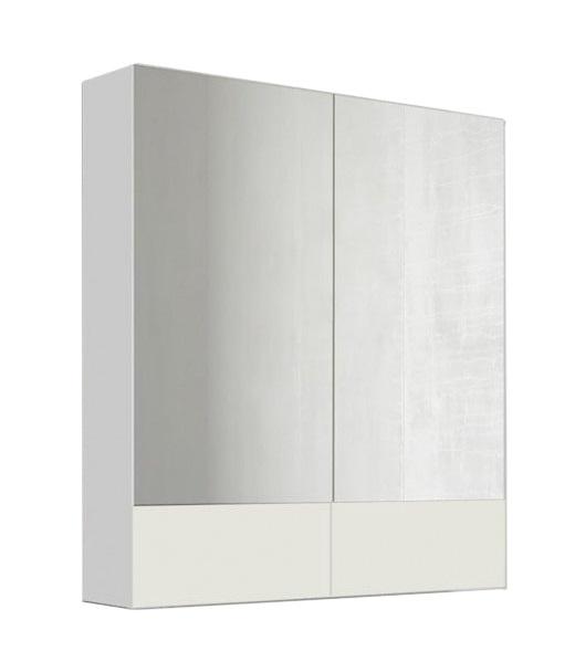 Купить Зеркало Marka One Соната 75 2 дверцы, Белый глянец, 1MARKA, Россия
