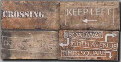 Купить Керамогранит Serenissima New York Road Signs Mix Chelsea декор 10x20, Италия