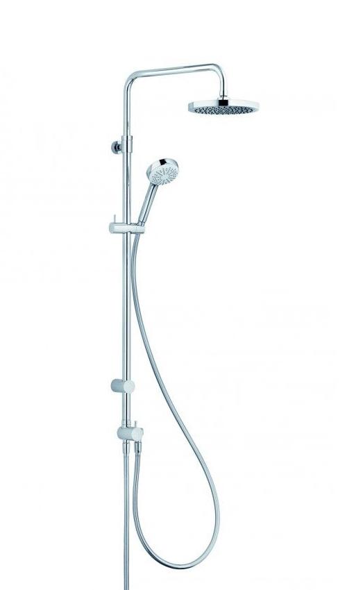 Душевая колонна с ручным и верхним душем Kludi Logo 1 режим, хром 6809305-00