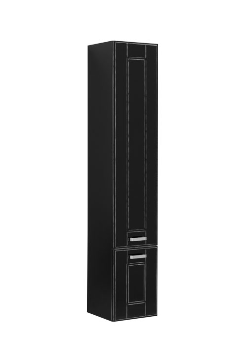Купить Пенал Aquanet Рондо 35 подвесной черный антик (2 дверцы) 00196790, Россия