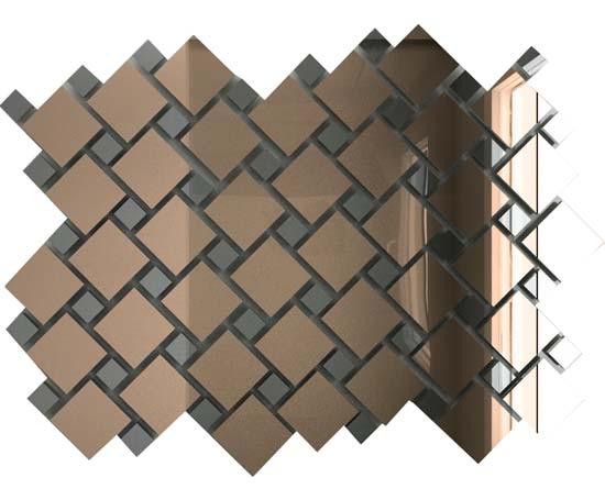 Купить Мозаика зеркальная Бронза + Графит Б70Г30 ДСТ с чипом 25х25 и 12х12/300x300 мм (10шт) - 0, 9, Россия