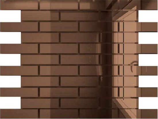 Купить Мозаика зеркальная Бронза Б8025 ДСТ 80 х 25/300 x 300 мм (10шт) - 0, 9, Россия