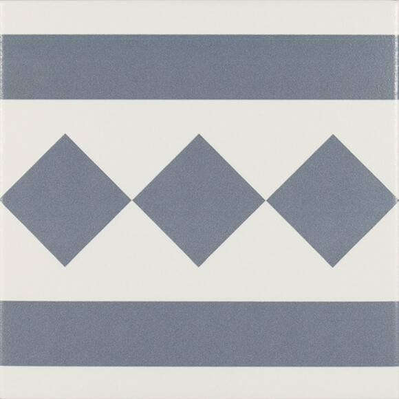 Купить Керамическая плитка Ribesalbes Antigua PT02106 Azul 002 декор 20х20, Испания