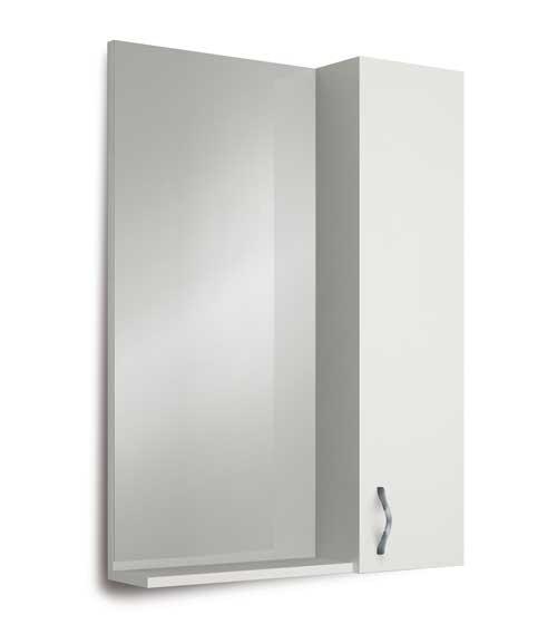 Купить Зеркальный шкаф Marka One Вита 65 Белый глянец, 1MARKA, Россия