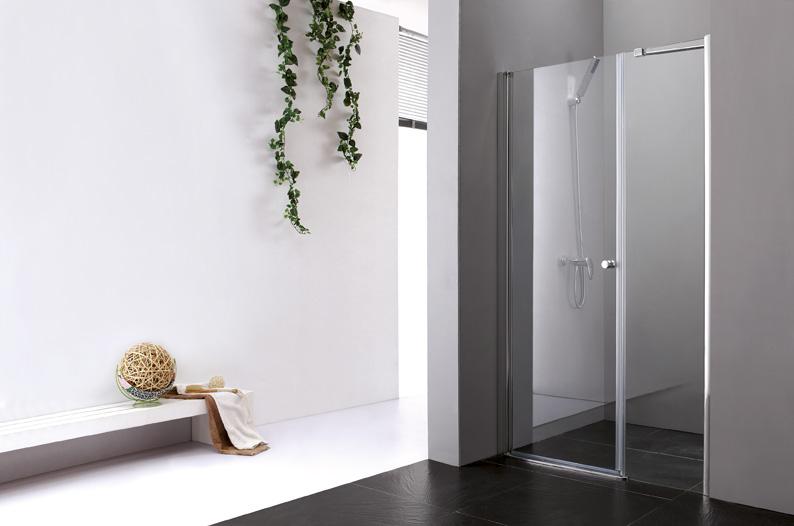 Купить Душевая дверь в нишу CEZARES ELENA B-11 1950x1000 (матовое стекло) Хром, Италия