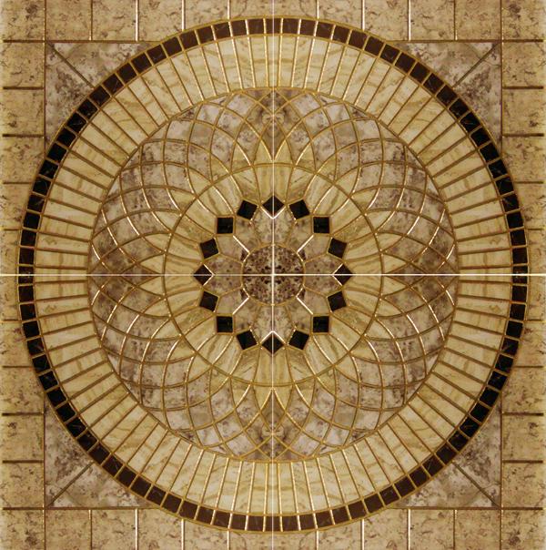 Купить Керамогранит Infinity Ceramic Tiles Rimini Roseton Beige Панно 120x120, Испания