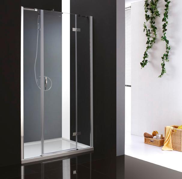 Купить Душевая дверь в нишу CEZARES BERGAMO-B-13 1950x1200 (матовое стекло) Хром, Италия