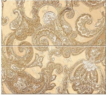 Купить Керамическая плитка Sfumato Beige Панно Paisley - комплект из 2 плиток 505x201 мм/505x402 мм/6, Azori, Россия