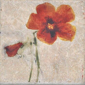 Купить Керамогранит Serenissima Marble Style Inserto Style S/3 (Цветок Вправо) декор 10х10, Италия