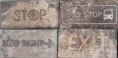 Купить Керамогранит Serenissima New York Road Signs Mix Broadway декор 10x20, Италия