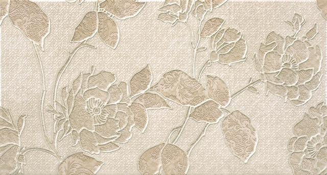Керамическая плитка Rocersa Aura Decorado Fleurs A Beige Декор 31, 6x59, 34, Испания  - Купить