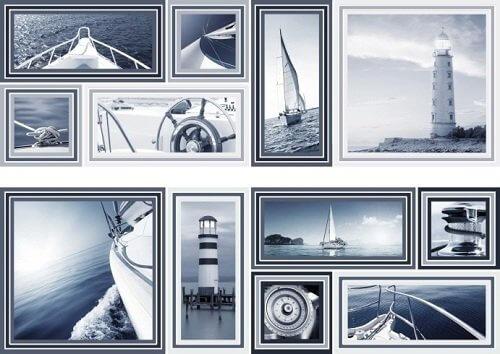 Купить Керамическая плитка Mallol Genova Decor Memories Azul-2 Панно (из 2-x пл.) 50x75, Испания