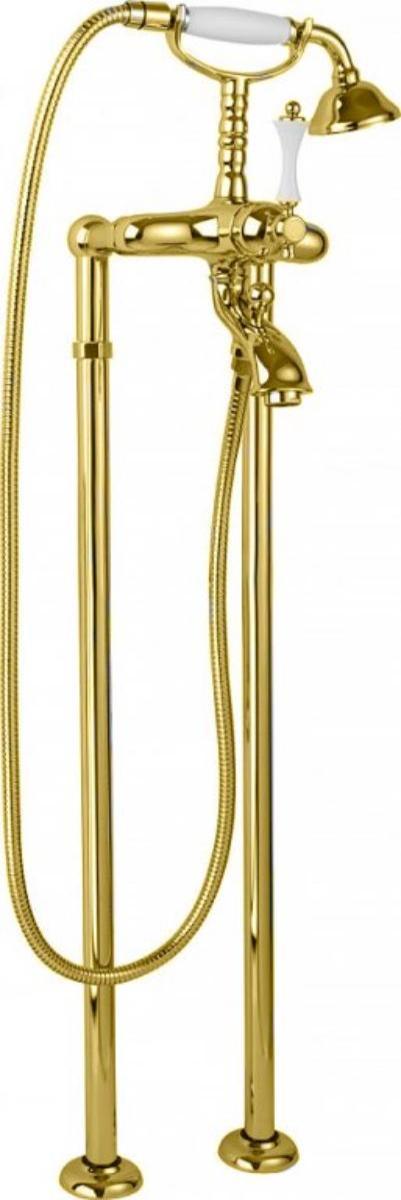 Купить Смеситель для ванны и душа Cezares Margot золото, ручка металл MARGOT-VDP-03/24-M, Италия