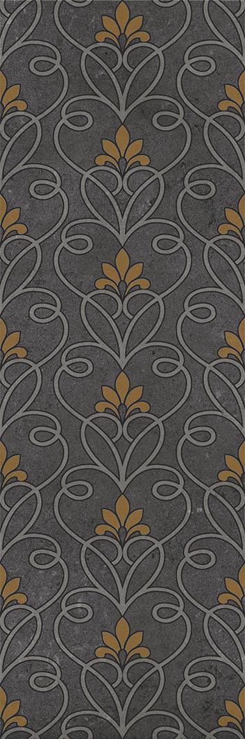 Купить Керамическая плитка Silvia black Декор 02 30х90, Gracia Ceramica, Россия