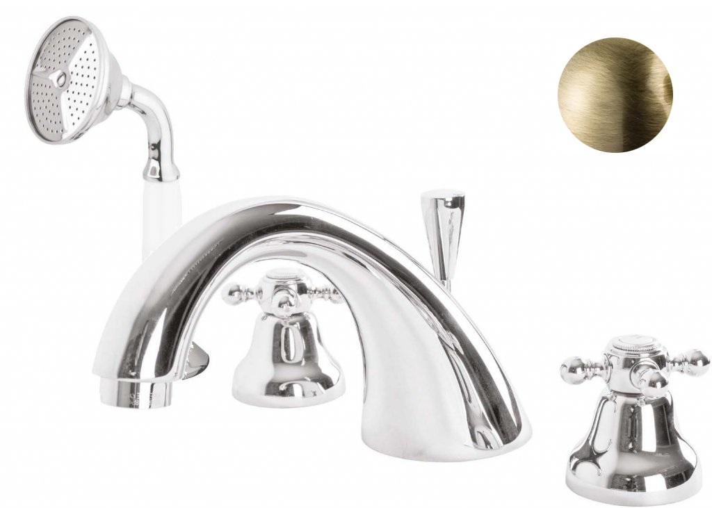Купить Смеситель для ванны и душа Cezares Golf бронза GOLF-BVD-02, Италия