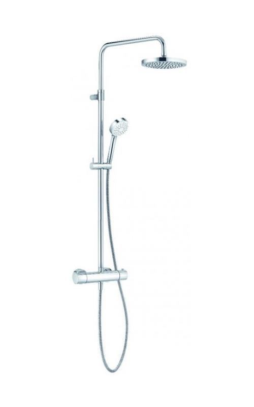 Душевая система с термостатом, ручным и верхним душем Kludi Logo 1 режим, хром 6809505-00