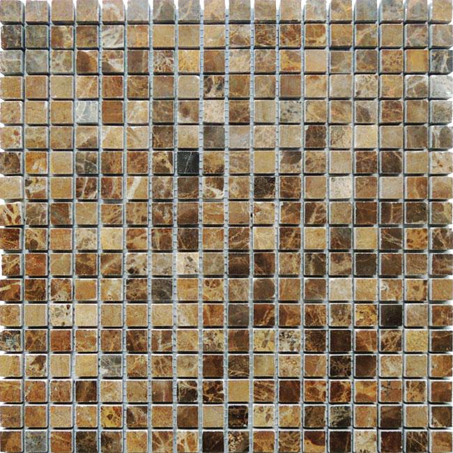 Купить Мозаика Caramelle Mosaic Pietrine 4mm Emperador Dark Pol (1, 5x1, 5) 30, 5x30, 5, Китай