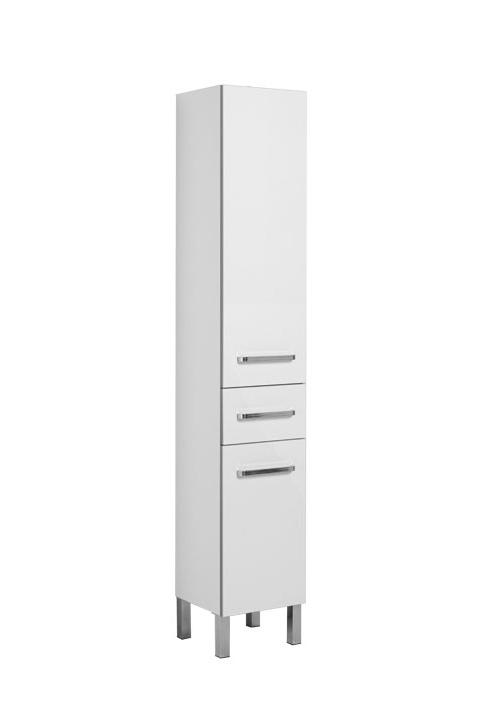 Купить Пенал Aquanet Сиена 35 напольный левый белый 00189242, Россия