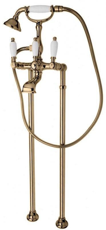 Купить Смеситель для ванны и душа Cezares First бронза, ручка орех FIRST-VDP-02-Nc, Италия