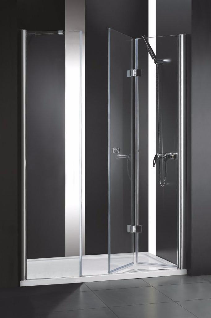 Купить Душевая дверь в нишу CEZARES ELENA BS-13 1950x1200 (матовое стекло) Хром, Италия
