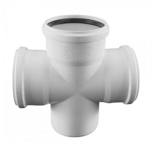 Купить Rehau Крестовина одноплоскостная для систем внутренней канализации 110/110/110/87*, Германия