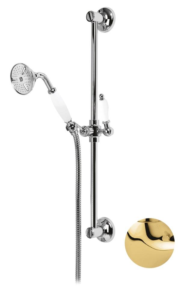 Купить Душевой гарнитур Cezares First золото, ручка металл FIRST-SD-03/24-M, Италия
