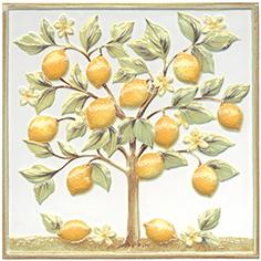 Купить Керамическая плитка Kerama Marazzi Капри Декор настенный Лимонное дерево TLA001 20х20, Россия