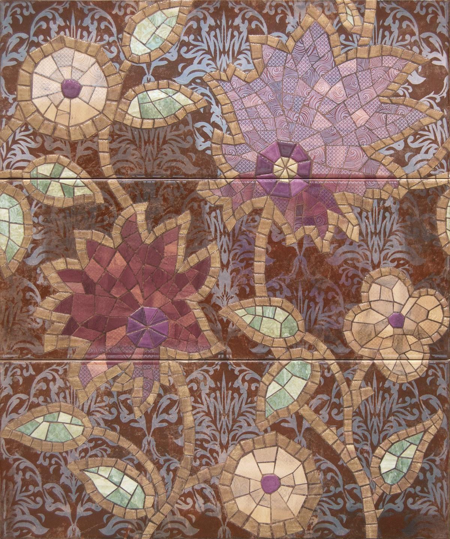 Купить Керамическая плитка Cifre Montblanc Carlina Hot Composicion (Компл. из 3 шт) панно 50x60, Cifre Ceramica, Испания