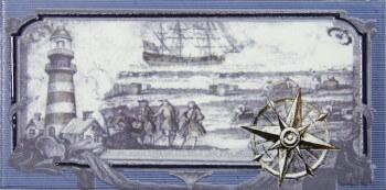 Купить Керамическая плитка Maritima Rain Nautica Cenefa-1 СД129 декор 10х20, Испания