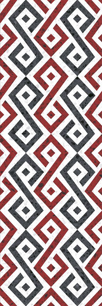 Купить Керамическая плитка Molle red Декор 01 30х90, Gracia Ceramica, Россия