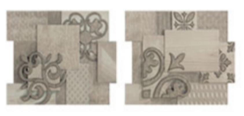 Купить Керамическая плитка Porcelanite Dos 9516 Composicion Ceniza-Gris Sin Fin II (компл. из 2 шт) бордюр 19, 9х23, 2, Испания