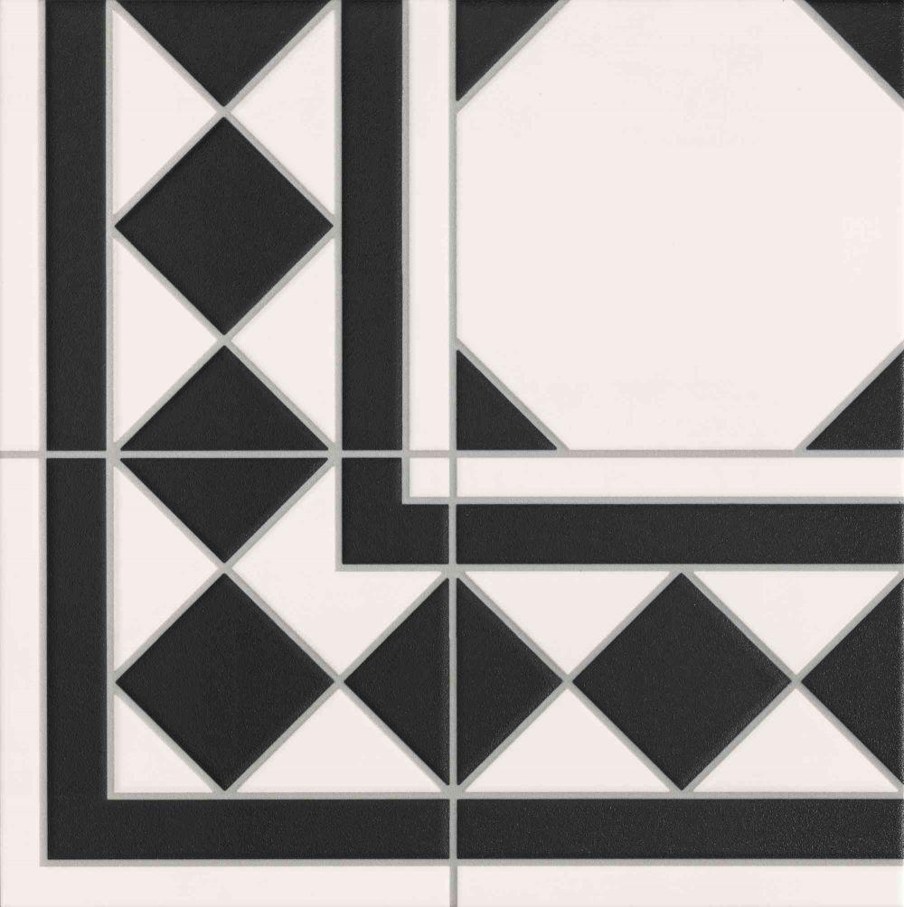 Купить Керамическая плитка Realonda Oxford Negro Esquina 33х33, Испания