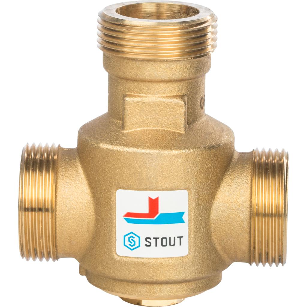 Купить STOUT Термостатический смесительный клапан G 1 1/4 НР 55°С, Италия