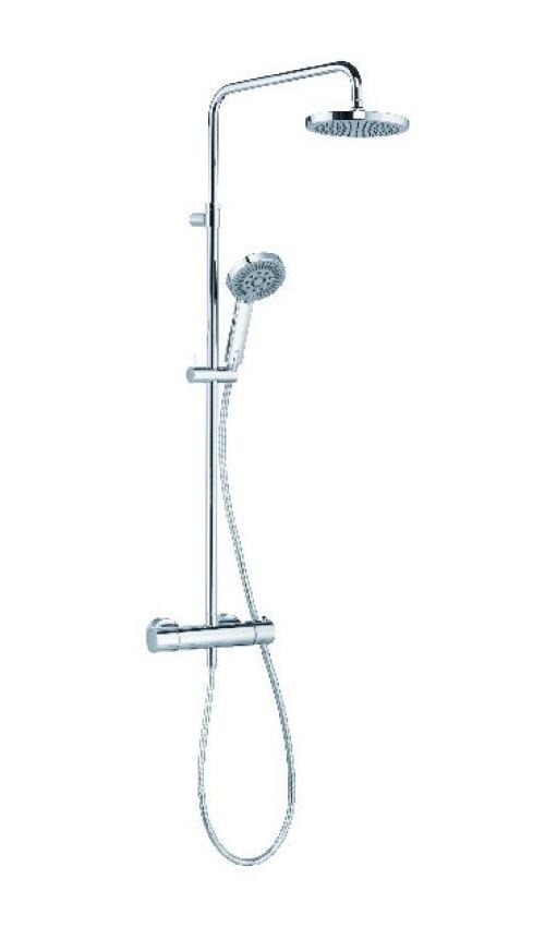 Душевая система с термостатом, ручным и верхним душем Kludi A-QA хром 6609505-00