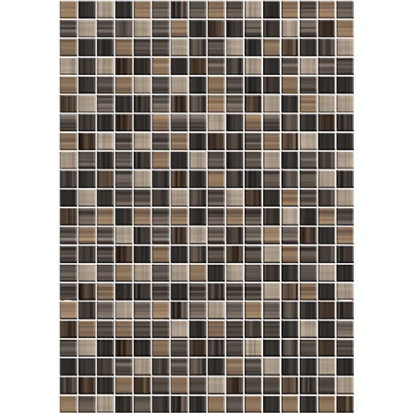 Купить Керамическая плитка Cersanit Motive настенная коричневая (MFM111D) 25x35, Россия