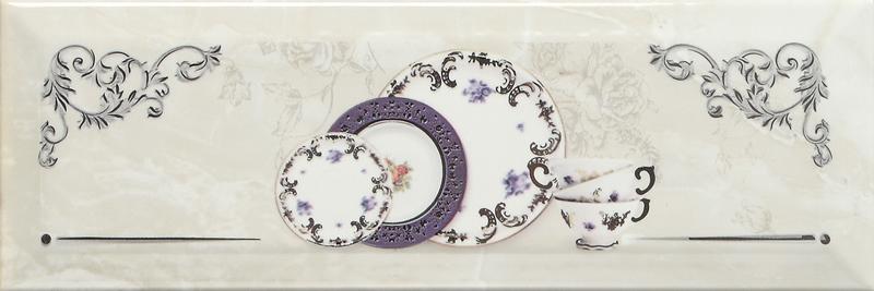 Купить Керамическая плитка Monopole Petra Decor Pranzo Silver A декор 10х30, Испания