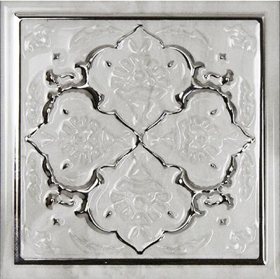 Купить Керамическая плитка Monopole Petra Dec. Armonia Silver C СД187 декор 15х15, Испания