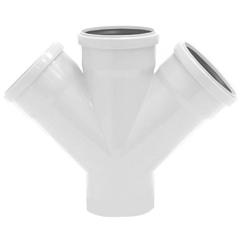 Купить Rehau Крестовина одноплоскостная для систем внутренней канализации 110/110/110/45*