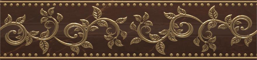 Купить Керамическая плитка AltaСera Flexion Marron BW0FLX21 Бордюр 6, 7х24, 9, Россия