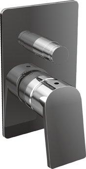 Купить Встраиваемый двухпозиционный смеситель для душа Cezares Trend хром TREND-VDIM-01-Cr, Италия