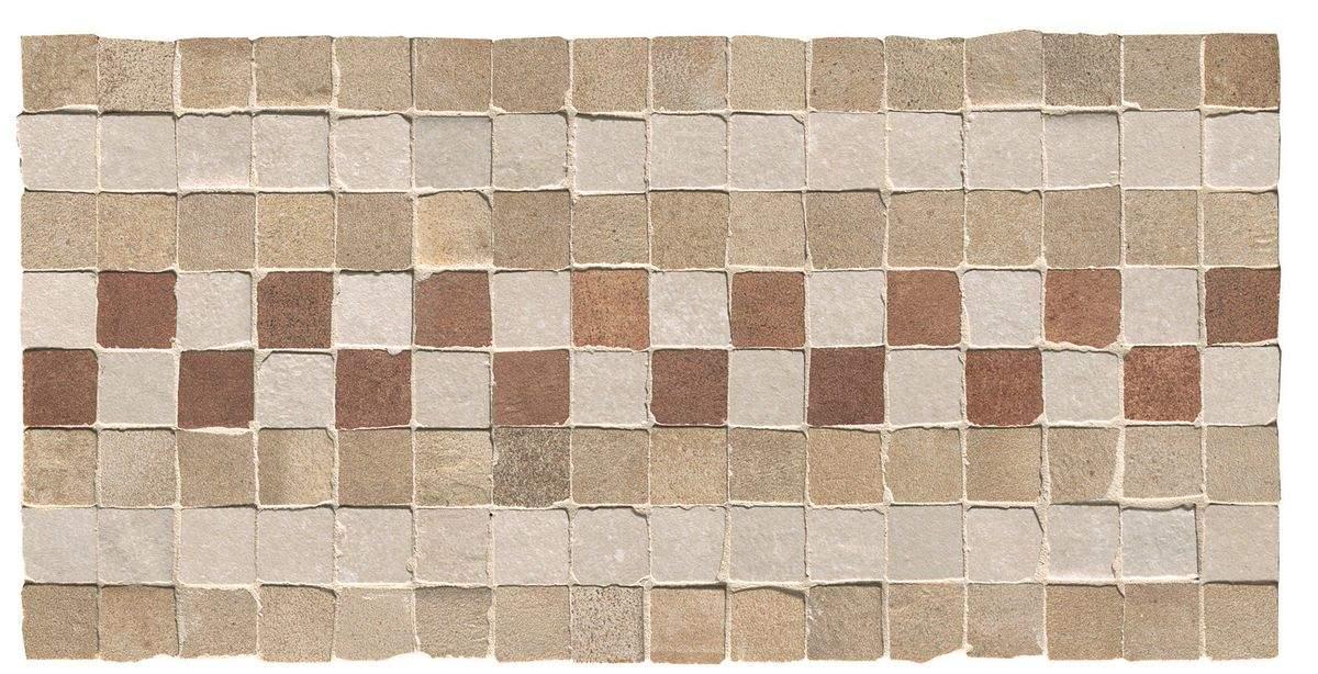 Купить Керамогранит Fap Firenze Heritage 24054 Deco Terra Fascia Mosaico мозаика 15x30, Италия