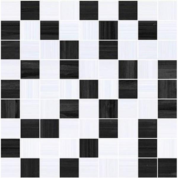 Купить Керамическая плитка Ceramica Classic Stripes Мозаика чёрный+серый 30х30 - копия, Россия