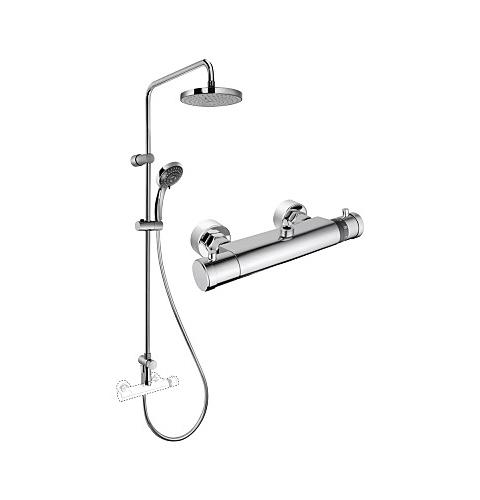 Купить Душевая колонна с термостатическим смесителем для верхнего и ручного душа Vitra System Rain A49235EXP, Турция